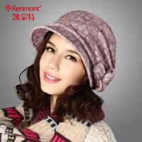 kenmont帽子女士帽子贝雷帽时尚优雅淑女帽1456