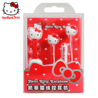 Hello Kitty 凯蒂猫 耳机iphone4S/5S/6S P 入耳式线控耳机 HKR-EP03