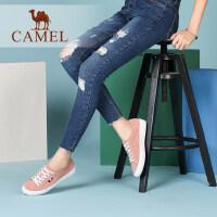 camel骆驼女鞋 新款平底单鞋 系带韩版女士休闲鞋平跟鞋子