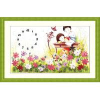 乐陶陶丝带绣 家居装饰 挂画系列 印花十字绣客厅 情到真时 儿童房挂画c-0006