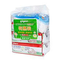 Pigeon/贝亲婴儿湿巾80片3包PL226 新生儿柔湿巾+婴儿纸尿裤L 2片