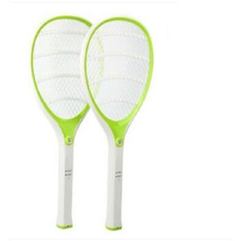 雅格5614充电式电蚊拍大网面安全灭蚊拍带led苍蝇拍