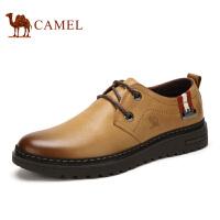 camel骆驼 新款男鞋 头层牛皮休闲皮鞋耐磨男鞋 休闲鞋
