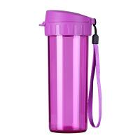 特百惠水杯500ml 茶韵随手杯便携塑料杯子运动水壶学生儿童杯茶杯玫红