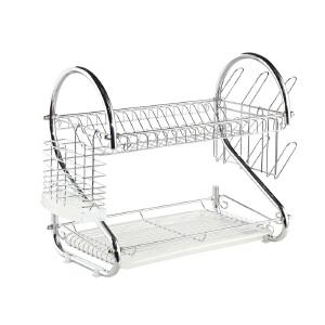 [当当自营]生活诚品 防锈双层沥水碗碟架CJ25055-2 优品优质