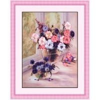 丝带绣 家居装饰 挂画系列 印花十字绣客厅 花样心情c-0034