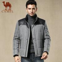 camel 骆驼男装时尚韩版潮流 拉链棉衣冬季新款 男士服装