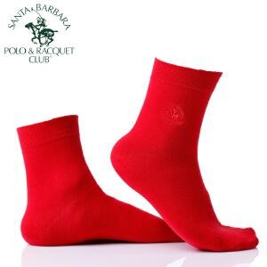 圣大保罗红袜子本命年5双装男士女士袜子中筒男女棉袜喜庆结婚新年转运踩小人吸汗透气纯色保暖春秋季中厚款