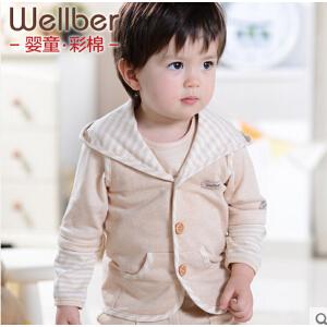 威尔贝鲁 婴儿马甲 宝宝纯棉卡通背心春秋款 男女童彩棉坎肩