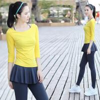 菩�q 女 瑜伽服三件套装 健身服 跑步服 运动服 瑜珈服 含胸垫