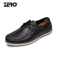 零度尚品男鞋单鞋休闲鞋透气按摩软底休闲鞋驾车鞋F8971