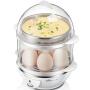 小熊(Bear)煮蛋器 蒸蛋器  双层大容量 配蒸碗 ZDQ-206