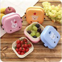 日式可爱双层分隔饭盒 迷你创意学生便当盒便携野餐水果盒