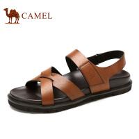 camel骆驼男鞋 夏季新款 日常休闲 魔术贴凉鞋男