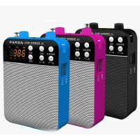 熊猫K3 充电扩音器 教学腰挂教师导游麦克风插卡音箱收音机 广场扩音机