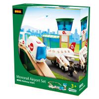 [当当自营]BRIO 电动机场轨道套装 儿童益智拼插木制轨道小火车玩具 BR33301