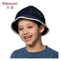 kenmont帽子 春夏儿童帽 户外休闲盆帽纯棉 0588