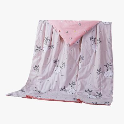 当当优品 全棉印花水洗夏凉被 空调被 午睡被 莱卡(驼)200*230cm当当自营 纯棉面料 环保印染0刺激 可水洗不变形