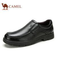 camel骆驼男鞋 秋季新品商务休闲鞋 套脚皮鞋舒适爸爸鞋