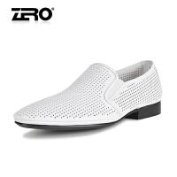 零度尚品 新款 时尚潮流透气凉鞋 男鞋 镂空洞洞鞋 奢华皮鞋 63945