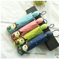 包邮 全自动黑胶伞折叠卡通小鹿伞遮阳防晒防紫外线太阳伞