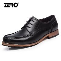 零度尚品布洛克男鞋新款潮鞋雕花英伦风尖头男士皮鞋F5205