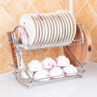 全国包邮 厨房置物架 双层沥水收纳碗架 滴水放碗盘子架