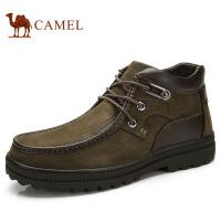 camel 骆驼男鞋 商务休闲男士鞋系带保暖绒里男鞋潮流男士鞋子 82203627