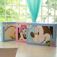 迪士尼宝宝婴儿毛毯双层加厚儿童毯宝宝拉新生儿舍尔毛毯礼盒