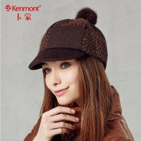 kenmont卡蒙帽子 女士贝雷帽羊毛呢帽子时尚复古帽子2256