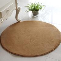 乐唯仕纯色珊瑚绒地毯卧室客厅地毯地垫门垫脚垫圆形