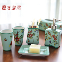 墨菲 手工陶瓷卫浴五件套欧式新古典创意软装浴室卫生间洗漱套装