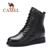 Camel/骆驼女鞋  英伦风 内增高 时尚简约女靴