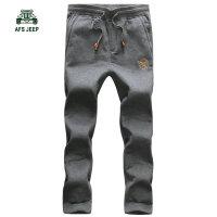 79802战地吉普AFS JEEP秋冬新款加绒加厚休闲运动裤 男士长卫裤潮