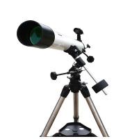 博冠天文望远镜钢架天鹰90EQ升级版 90/1000白色高倍便携家用入门型