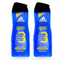 阿迪达斯(adidas)男士三合一洗发沐浴露(原装进口)运动能量400ml 0449