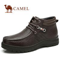 CAMEL骆驼 男皮靴 简洁大气 商务日常休闲男皮鞋秋冬新品82225600