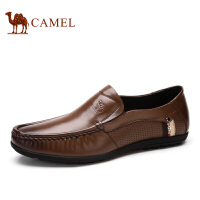 camel骆驼男鞋 春季新款 男士休闲鞋 懒人鞋 透气皮鞋