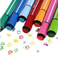 真彩水彩笔36色酷丫儿童水彩笔  绘画笔可洗水彩笔印章218336