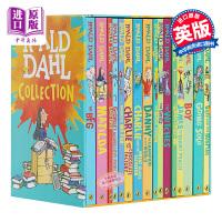 罗尔德达尔英文原版全集15册套装Roald Dahl女巫好心眼儿圆梦巨人了不起的狐狸爸爸查理和巧克力工厂魔法手指畅销儿童文学书籍BFG