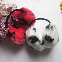 韩国可爱保暖斑点仿兔毛耳罩 冬季大号防冻耳套耳暖耳捂耳罩 JJD167
