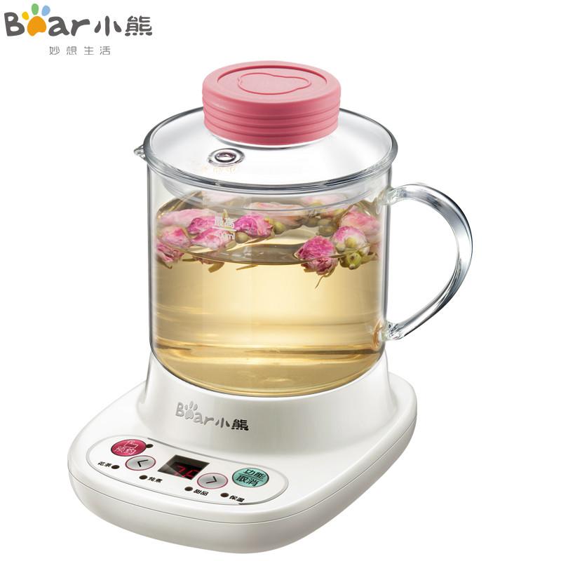 小熊(Bear)迷你养生壶全自动加厚玻璃 电热杯煮花茶壶 YSH-A03U1办公私享 微电脑定时 全玻璃杯体 自动保温