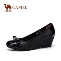 camel骆驼女鞋 春季新品 水染牛皮休闲女鞋浅口鞋