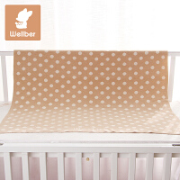 威尔贝鲁 婴儿毛毯春夏新生儿毯子宝宝纯棉盖毯儿童大毛巾空调被