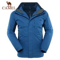 CAMEL骆驼 秋冬新品 骆驼户外冲锋衣 保暖三合一两件套男冲锋衣
