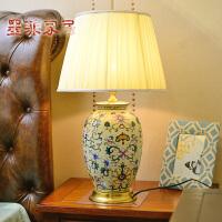 墨菲 欧式高端奢华手绘陶瓷复古典客厅书房卧室台灯