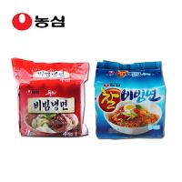 韩国进口食品 农心辛拉面 拌冷面四连包+粘拌面五连包