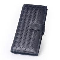 Yvonge韵歌羊皮编织卡片包长款大容量卡包名片包真皮男女款银行卡*包