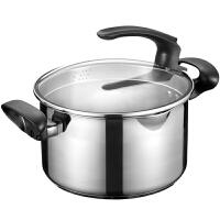 爱仕达汤锅ASD 22CM可立盖304不锈钢汤锅炖锅 煮锅焖烧锅锅具LG1722