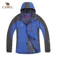 CAMEL骆驼 户外冲锋衣男 防风保暖冲锋衣两件套含抓绒内胆